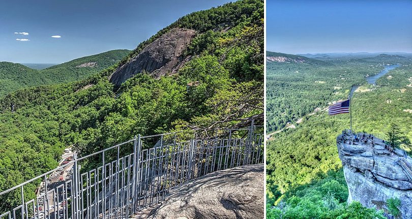 Chimney Rock State Park, NC near Meadowbrook Log Cabin Photo by WNC Outdoors