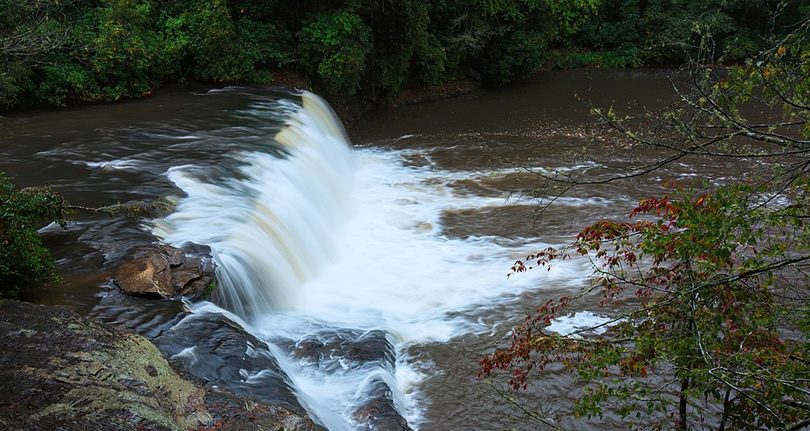 Hooker Falls Photo by Will Thomas - Nearby Waterfall Walks – Meadowbrook Log Cabin, Hendersonville, NC