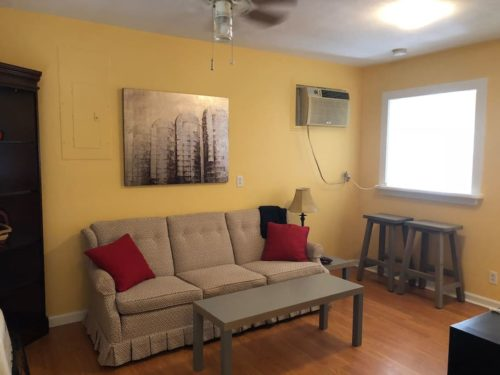 Ceiling Fan and Air-conditioner keep Apple Barn Cottage in Flat Rock comfortable. - Apple Barn Cottage in Flat Rock