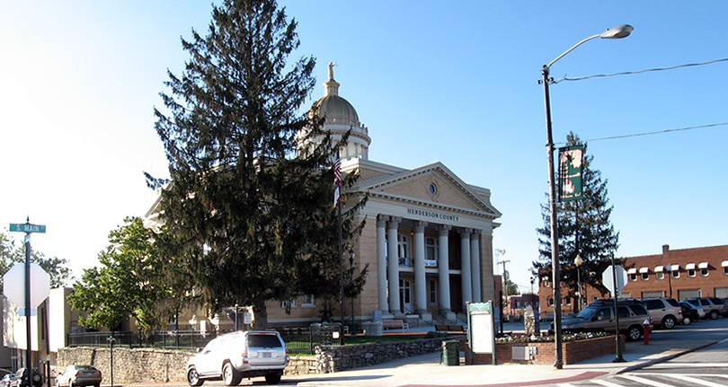 Henderson County Heritage Museum in the Historic Courthouse, Downtown Hendersonville's Historic Business District, North Carolina near Meadowbrook Log Cabin