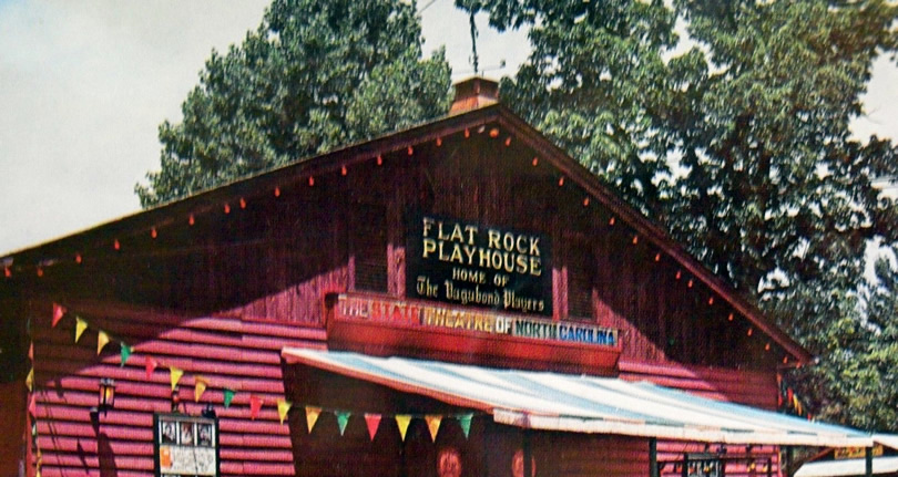 Flat Rock Playhouse near Meadobrook Log Cabin