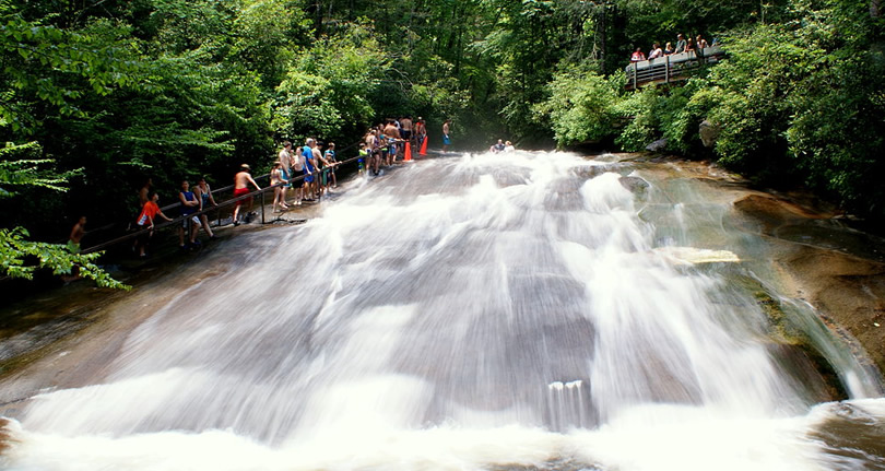 Sliding Rock near Meadowbrook Cabin Photo by Lincoln H