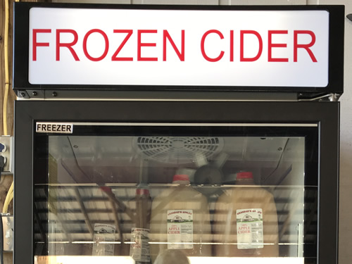 Frozen Cider is served all day