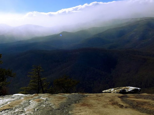 View from Looking Glass Rock near Meadowbrook Log Cabin Photo by Yves Sch