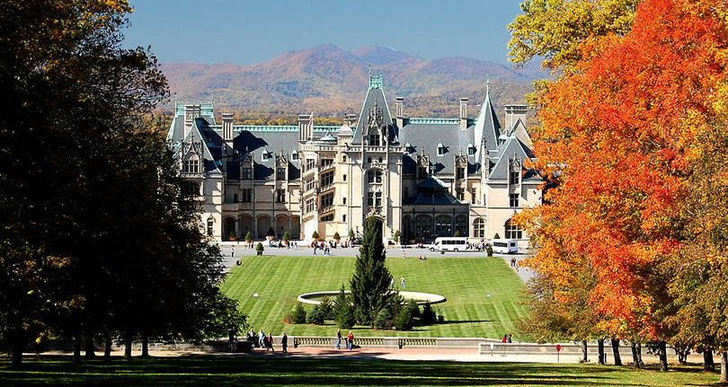 Autumn at the Biltmore Estate, North Carolina near Meadowbrook Log Cabin Photo by R. L. Terry