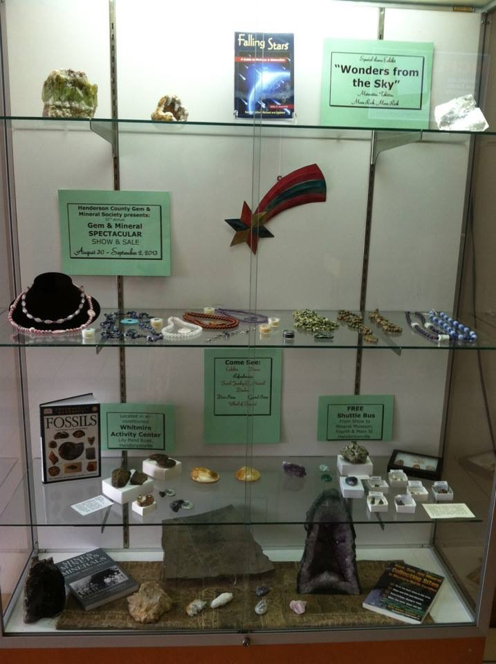 Mineral Show in the Whitmire Activity Building - Toms Park, Allen Street Hendersonville , NC