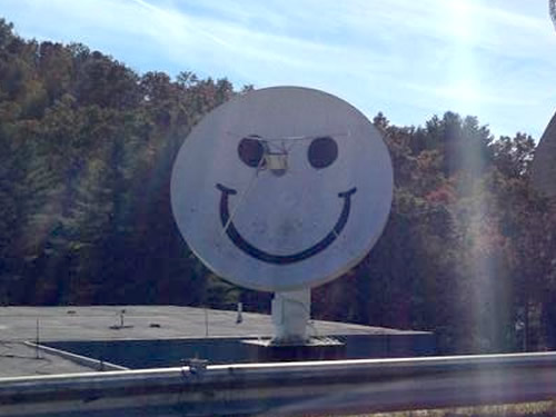 Smiley a radio telescope at PARI is operated remotely by students and teachers. - PARI - Pisgah Astronomical Research Institute - Things to do near Meadowbrook Log Cabin