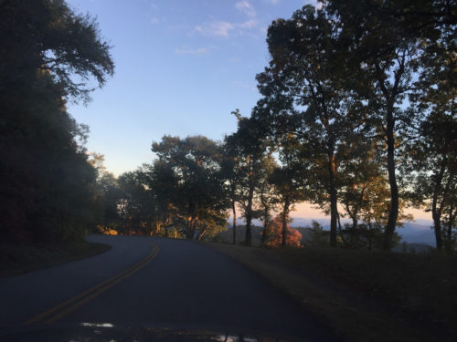 The drive to the Pisgah Inn along the Blue Ridge Parkway - The View from Pisgah Inn – Meadowbrook Log Cabin