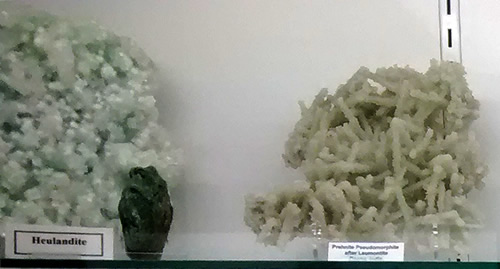 Items on display at the Mineral and Lapidary Museum in Hendersonville, North Carolina near Meadowbrook Log Cabin