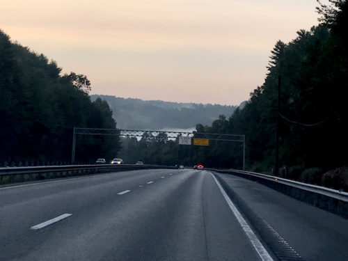 The Green River Gorge - I-26 and the Peter Guice Bridge – Driving to Meadowbrook Log Cabin