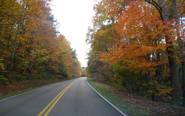 The Blue Ridge Parkway in Autumn