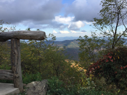 The View from Pisgah Inn – Meadowbrook Log Cabin