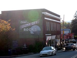 Visit Jump Off Rock Billboard in Downtown Hendersonville