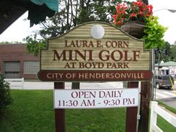 Laura E. Corn Mini-Golf at Boyd Park near Meadowbrook Log Cabin