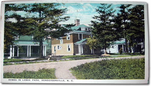 Old Postcard of Lenox Park - Things to do near Meadowbrook Log Cabin, Hendersonville, NC