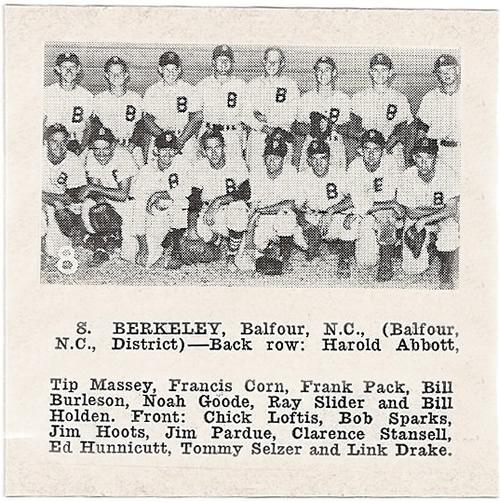 The Berkeley Spinners, sponsored by Berkeley Mills, Hendersonville, NC - Berkley Mills Park – Near Meadowbrook Log Cabin, Hendersonville ,NC