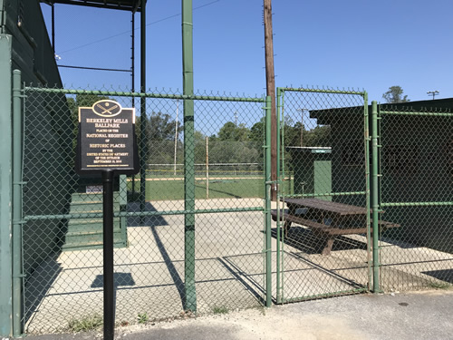Berkeley Mills Ballpark is on the National Register of Historic Places - Berkley Mills Park – Near Meadowbrook Log Cabin, Hendersonville ,NC