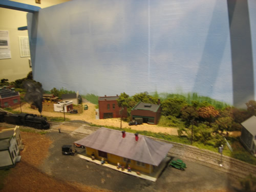 The Coming of the Railroad display at the Henderson County Heritage Museum in the Henderson County Historic Courthouse – Things to do near Meadowbrook Log Cabin