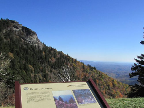 Devil's Courthouse near Meadowbrook Log Cabin