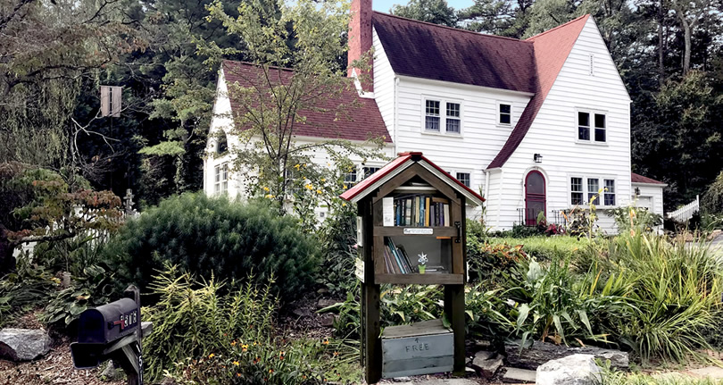 Little Library on Clairmont Drive - Near Meadowbrook Log Cabin in Druid Hills, Hendersonville, NC