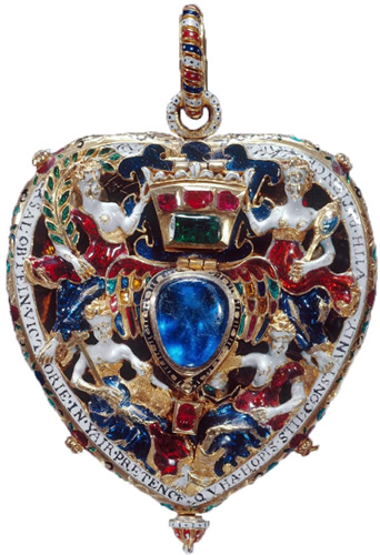 The Lennox Jewel is one of the most important early jewels in the Royal Collection. It was commisioned by Lady Margaret Douglas, later Countess of Lennox for her husband in the 1500s. The Lennox Jewel was acquired by Queen Victoria in 1843.