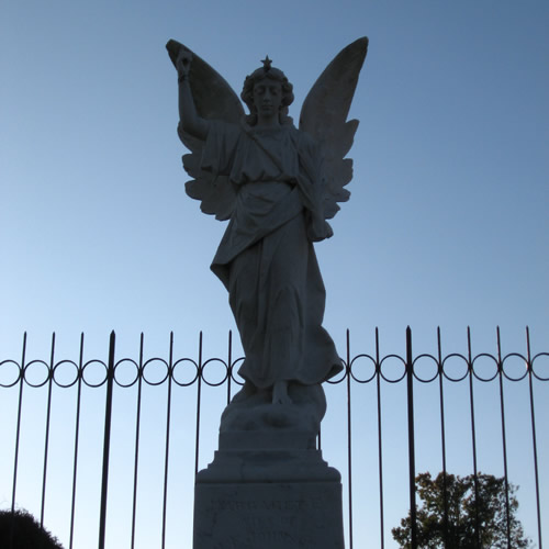 Look Homeward Angel (Thomas Wolfe's Angel) - Look Homeward Angel at Oakdale Cemetery – Near Meadowbrook Log Cabin, Hendersonville, NC