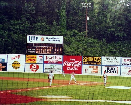 Asheville Tourists Minor League Baseball - Things to do near Meadowbrook Log Cabin