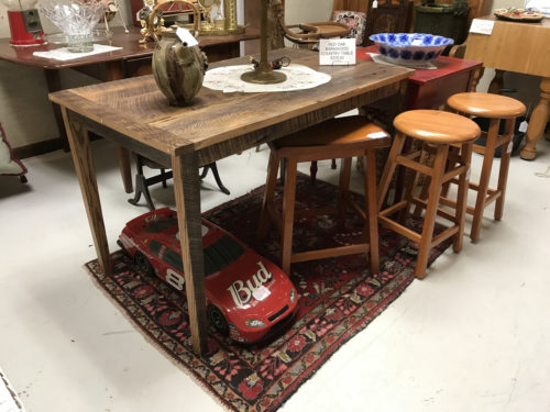Hand made barn door table, stools and more - Needful Things Antique Mall – Shopping near Meadowbrook Log Cabin, Hendersonville, NC