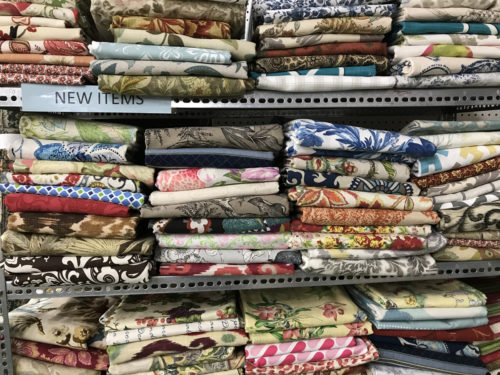 Upholstery fabric remnants - Needful Things Antique Mall – Shopping near Meadowbrook Log Cabin, Hendersonville, NC