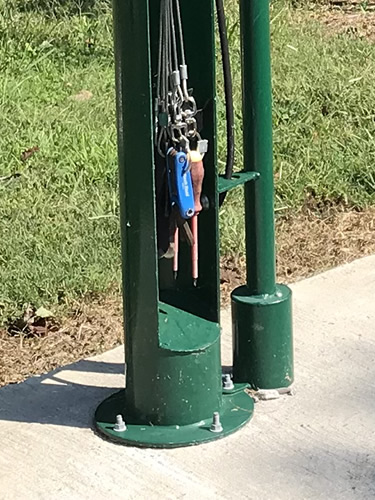 Bicycle FixIt Station has tools, just in case. - Oklawaha Greenway Trail – Things to Do Near Meadowbrook Log Cabin