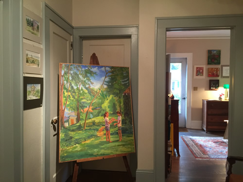 Paintings in a home studio in Druid Hills near Meadowbrook Log Cabin - Open Studio Tour of Henderson County - near Meadowbrook Log Cabin, Hendersonville, NC