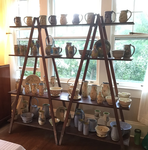 Hand crafted Pottery in a home studio in Druid Hills near Meadowbrook Log Cabin - Open Studio Tour of Henderson County - near Meadowbrook Log Cabin, Hendersonville, NC