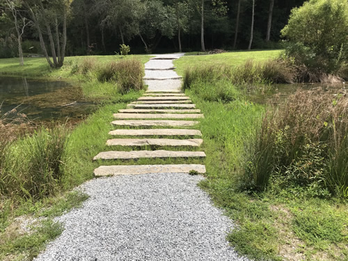 Stepping Stones across the lake - Rhododendron Lake Nature Park – Things to do near Meadowbrook Log Cabin