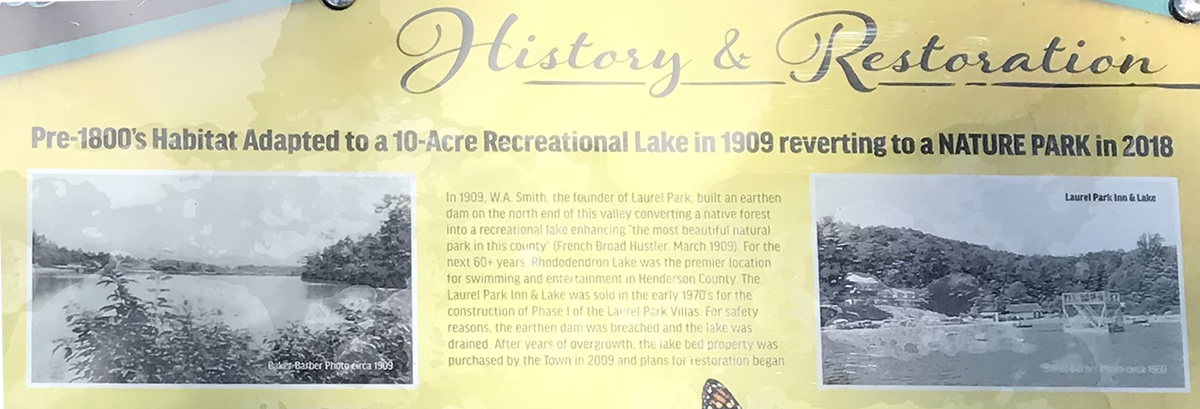 History & Restoration - Rhododendron Lake Nature Park – Things to do near Meadowbrook Log Cabin