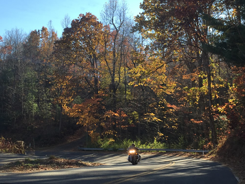 You meet motorcycles - Late Fall Drive South along 176, the Old Spartanburg Highway