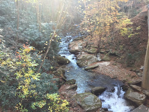 The headwaters of the Pacolet River - Late Fall Drive South along 176, the Old Spartanburg Highway