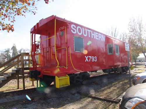 Caboose at the Historic Hendersonville Train Depot – Things to do near Meadowbrook Log Cabin
