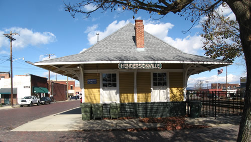 Historic Hendersonville Train Depot – Things to do near Meadowbrook Log Cabin