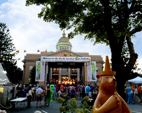 Live Music and Entertainment at the Henderson County Historic Courthouse - North Carolina Apple Festival - Things to do near Meadowbrook Log Cabin