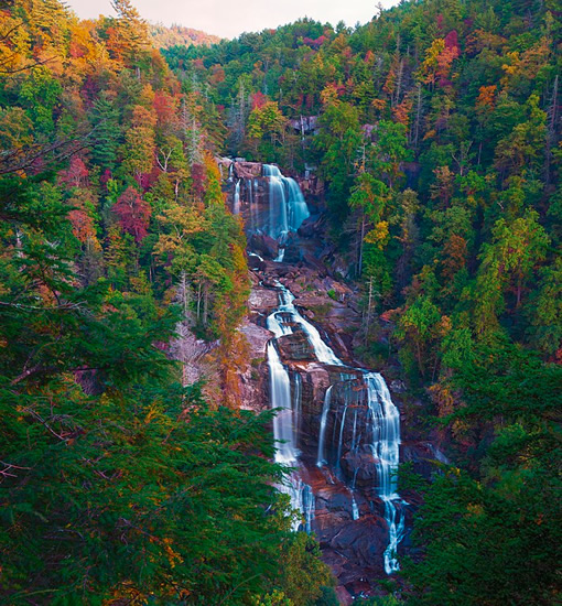 Whitewater Falls Photo by Will Thomas - Nearby Waterfall Walks – Meadowbrook Log Cabin, Hendersonville, NC