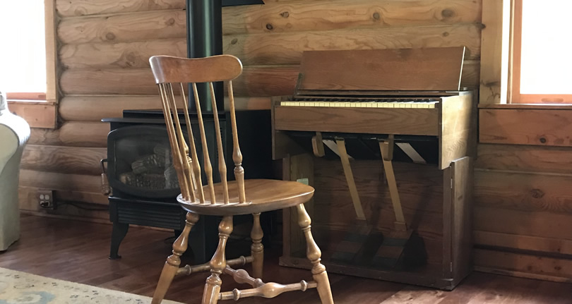 Folding Portable Organ from Estey Organ Company at Meadowbrook Log Cabin