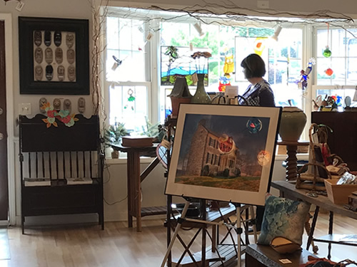 Locally made Art and Crafts at Firefly Craft Gallery in Historic Flat Rock