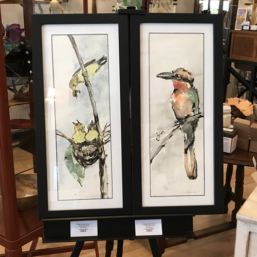 Original Watercolors by Janet Leazenby l Firefly Craft Gallery in Historic Flat Rock