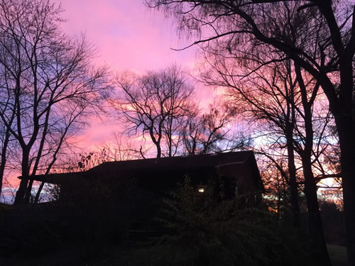 An Amazing Sunrise at the Log Cabin
