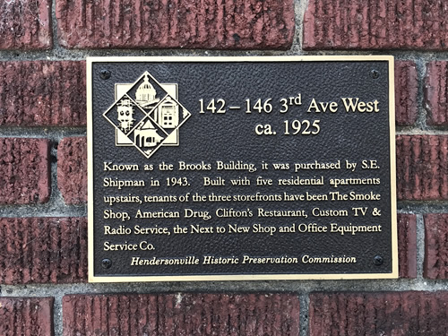 Brooks Building Historic Plaque