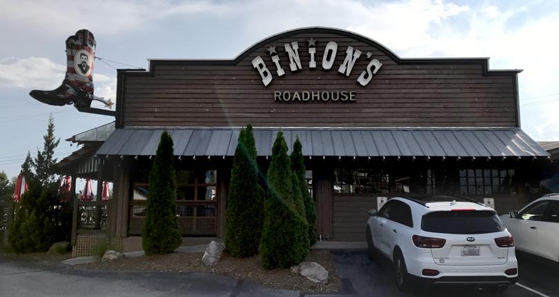 Binions Roadhouse in Hendersonville, NC