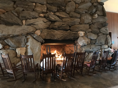 Fireplace at the Grove Park Inn