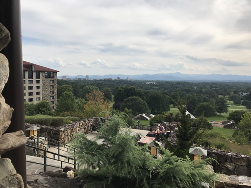View from the Sunset Terrace at the Grove Park Inn