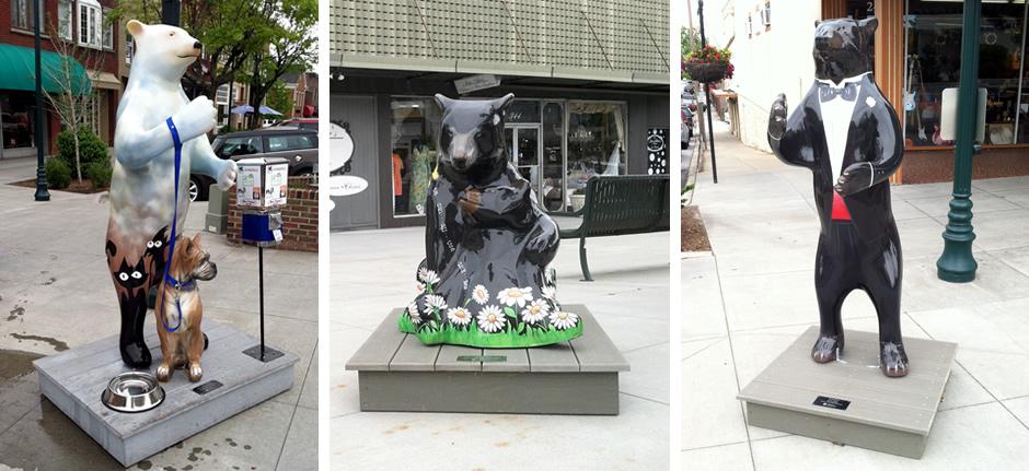 Bearfootin' Public Art Walk in Hendersonville, NC