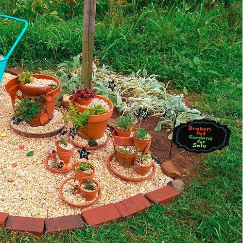 Kat's Kreative Klay Broken Pot Gardens
